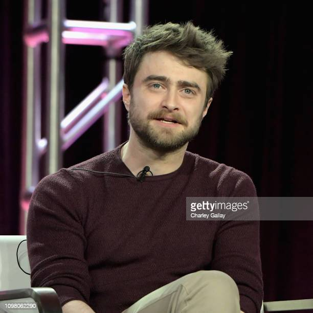 Daniel Radcliffe of 'Miracle Workers' speaks onstage during the TBS portion of the TCA Turner Winter Press Tour 2019 Presentation at The Langham...