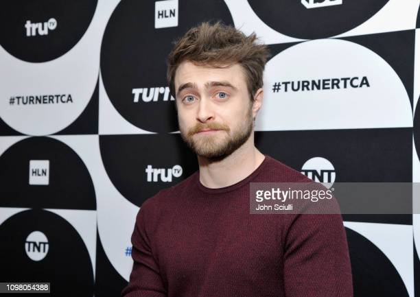 Daniel Radcliffe of the television show 'Miracle Workers' poses in the green room during the TCA Turner Winter Press Tour 2019 at The Langham...