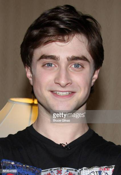 Daniel Radcliffe poses as he recieves his 2009 Broadwaycom Audience Awards for his work in the play Equus at The Waldorf Astoria on July 11 2009 in...