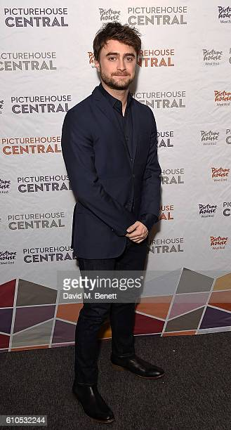 Daniel Radcliffe poses at a special screening and QA of his new film 'Swiss Army Man' at the Picturehouse Central on September 26 2016 in London...