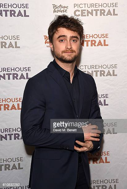 Daniel Radcliffe poses at a special screening and QA of his new film Swiss Army Man at the Picturehouse Central on September 26 2016 in London England