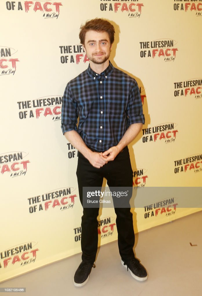 Daniel Radcliffe poses at the 'The Lifespan Of A Fact' photo call and meet & greet at The New 42nd Street Studios on September 6, 2018 in New York City.