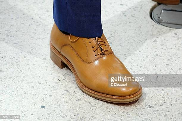 Daniel Radcliffe shoe detail visits 'Extra' at their New York studios at HM in Times Square on August 15 2016 in New York City