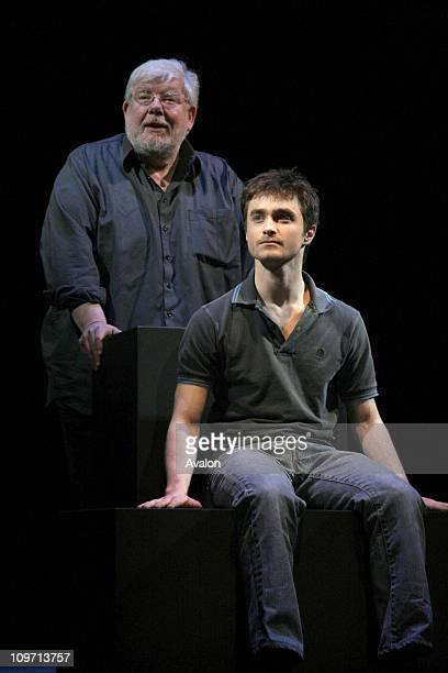 Daniel Radcliffe stars in the play Equus by Peter Shaffer which is at the Gielgud Theatre London Photo Shows Richard Griffiths as Martin Dysart and...