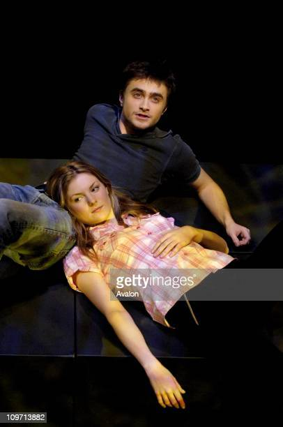 Daniel Radcliffe stars in the play Equus by Peter Shaffer which is at the Gielgud Theatre London Photo Shows Daniel Radcliffe as Alan Strang and...