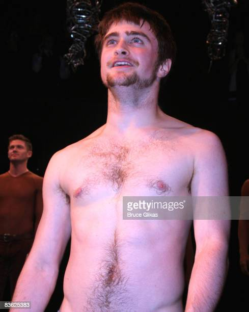 Daniel Radcliffe takes his Opening Night bow in Equus on Broadway at the Broadhurst Theatre on September 25 2008 in New York City