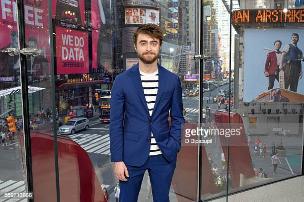Daniel Radcliffe visits 'Extra' at their New York studios at HM in Times Square on August 15 2016 in New York City