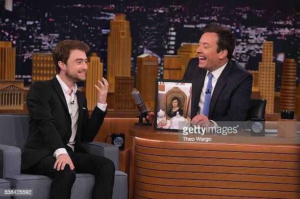"""Daniel Radcliffe Visits """"The Tonight Show Starring Jimmy Fallon"""" at Rockefeller Center on June 6, 2016 in New York City."""