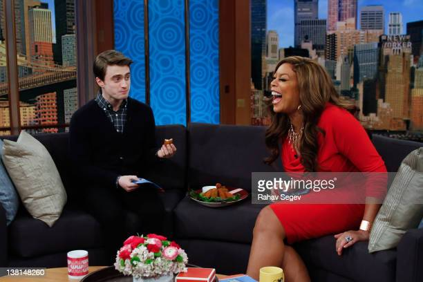 Daniel Radcliffe visits The Wendy Williams Show at The Wendy Williams Show Studio on February 3 2012 in New York City