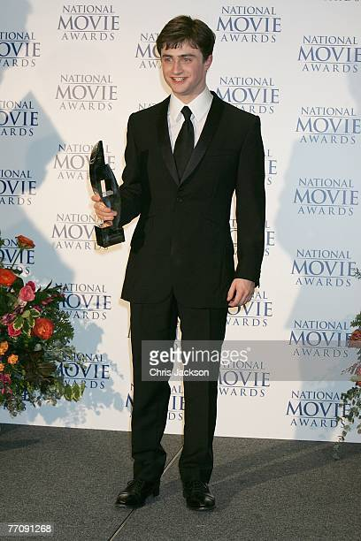 Daniel Radcliffe winner of the award for Best Performance in Harry Potter and the Order of the Phoenix at the National Movie Awards held at the Royal...