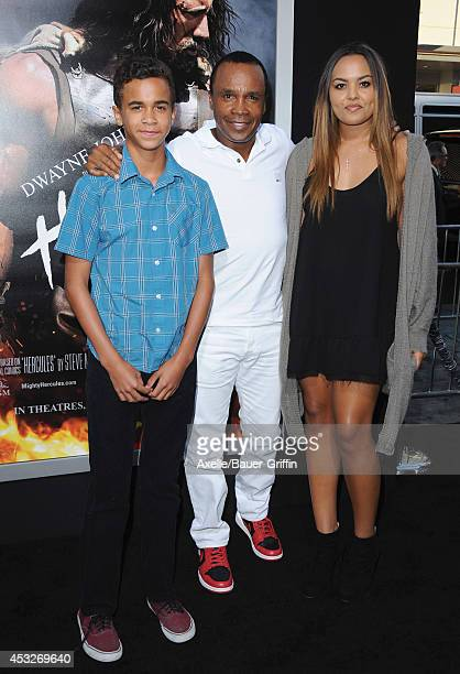 Daniel Ray Leonard former boxing champion Sugar Ray Leonard and Camille Leonard arrive at the Los Angeles Premiere of 'Hercules' at TCL Chinese...