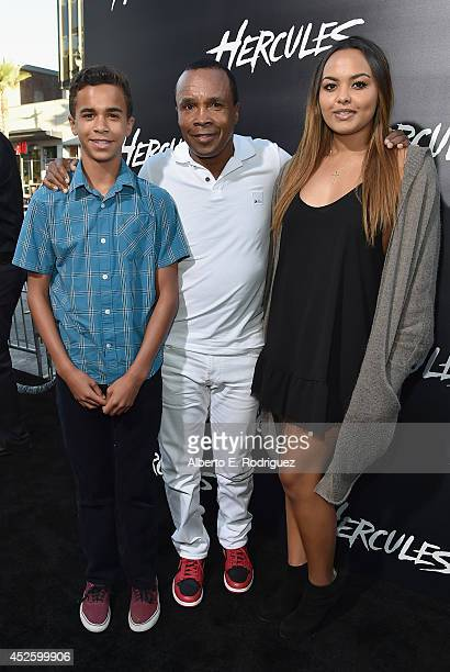 Daniel Ray Leonard former boxing champion Sugar Ray Leonard and Camille Leonard arrive to the premiere of Paramount Pictures' Hercules at the TCL...