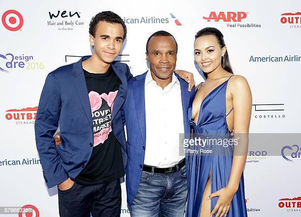 Daniel Ray Leonard former professional boxer Sugar Ray Leonard and Camille Leonard attend HollyRod Foundation's DesignCare Gala on July 16 2016 in...