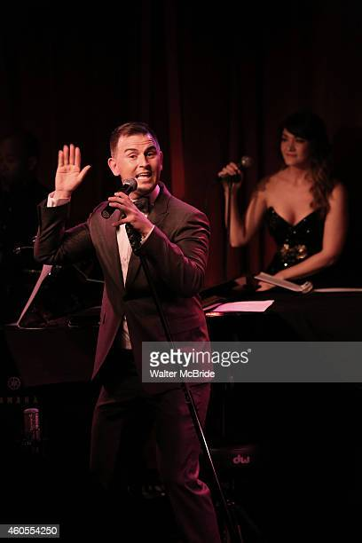 Daniel Reichard and Amy Connolly performing in 'Daniel Reichard's Decked Out Holiday Party' at Birdland on December 15 2014 in New York City