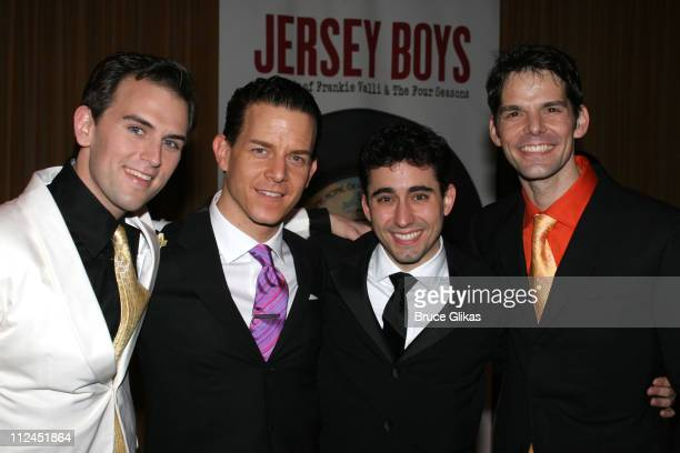 Daniel Reichard who plays Bob Gaudio Christian Hoff who plays Tommy DeVito John Lloyd Young who plays Frankie Valli and J Robert Spencer who plays...
