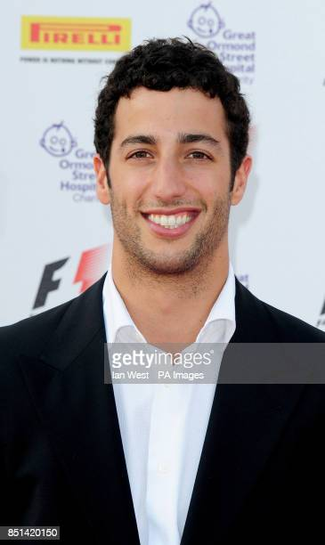 Daniel Ricciardo arrives at the F1 Party in aid of Great Ormond Street Hospital Children's charity The party marks the official launch of the Formula...