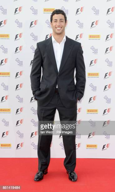 Daniel Ricciardo arriving at the F1 Party in aid of Great Ormond Street Hospital Children's charity The party marks the official launch of the...