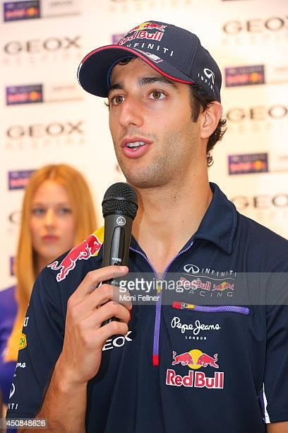 Daniel Ricciardo attends a press conference at Geox store on June 18 2014 in  Vienna Austria 79f2409b7319