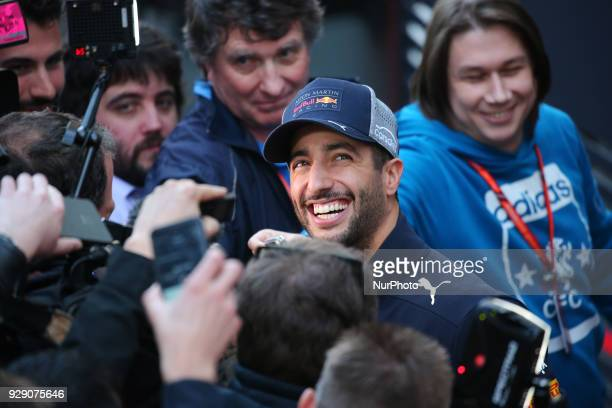 Daniel Ricciardo during the Formula 1 tests at the BarcelonaCatalunya Circuit on 07th March 2018 in Barcelona Spain