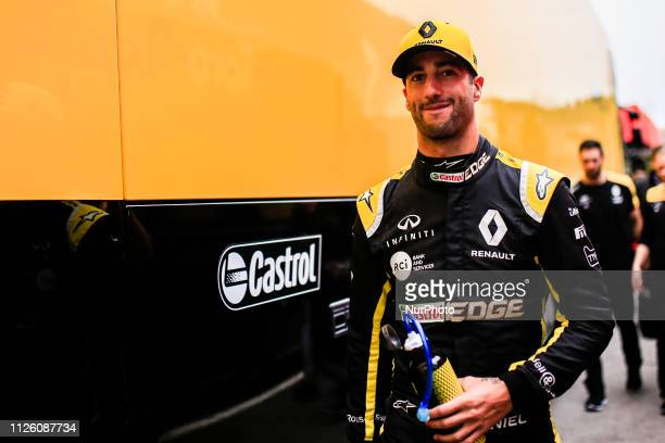 Daniel Ricciardo from Australia with 03 Renault F1 Team RS19 portrait during the Formula 1 2019 Pre-Season Tests at Circuit de Barcelona - Catalunya...