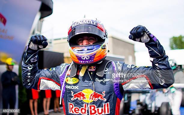 Daniel Ricciardo of Australia and Infiniti Red Bull Racing celebrates after winning the Canadian Formula One Grand Prix at Circuit Gilles Villeneuve...
