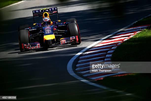 Daniel Ricciardo of Australia and Infiniti Red Bull Racing drives during practice ahead of the Canadian Formula One Grand Prix at Circuit Gilles...