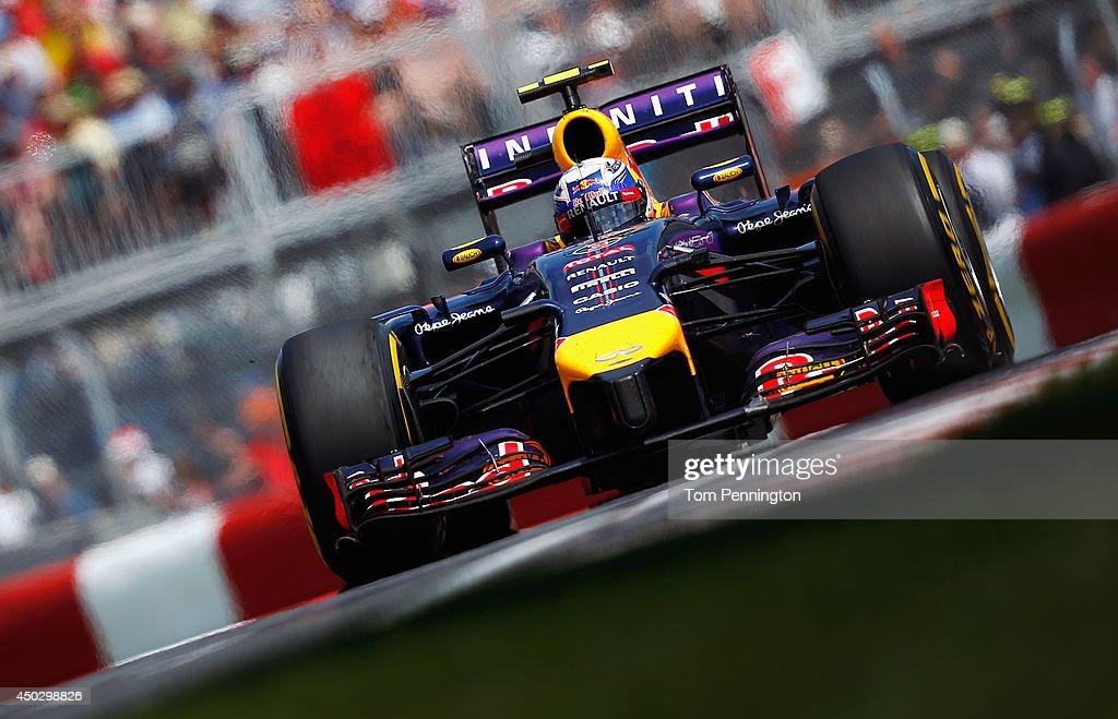 Daniel Ricciardo of Australia and Infiniti Red Bull Racing drives during the Canadian Formula One Grand Prix at Circuit Gilles Villeneuve on June 8, 2014 in Montreal, Canada.