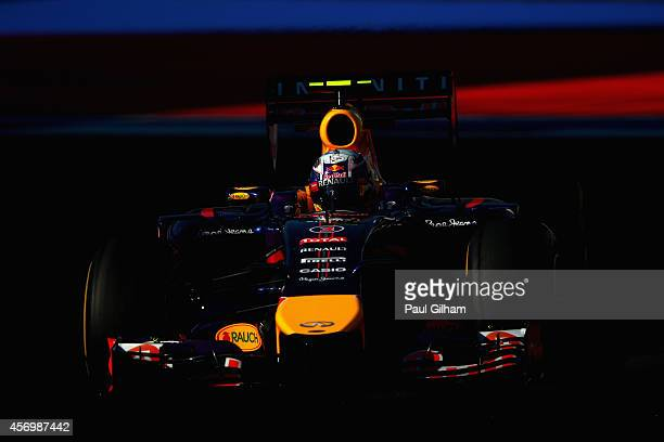 Daniel Ricciardo of Australia and Infiniti Red Bull Racing drives during practice ahead of the Russian Formula One Grand Prix at Sochi Autodrom on...