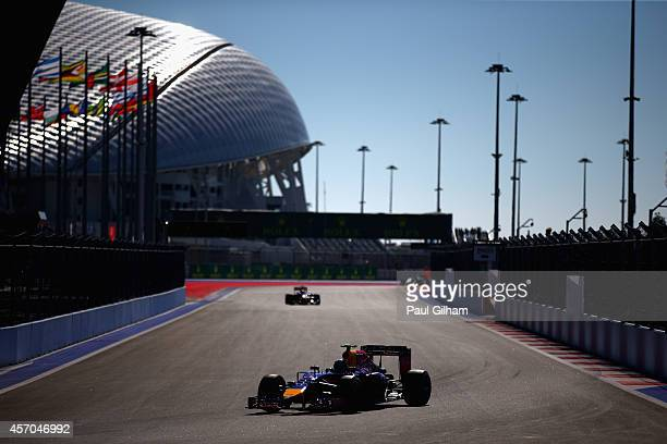 Daniel Ricciardo of Australia and Infiniti Red Bull Racing drives during final practice ahead of the Russian Formula One Grand Prix at Sochi Autodrom...