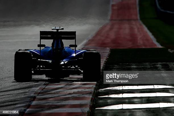 Daniel Ricciardo of Australia and Infiniti Red Bull Racing drives during final practice for the United States Formula One Grand Prix at Circuit of...