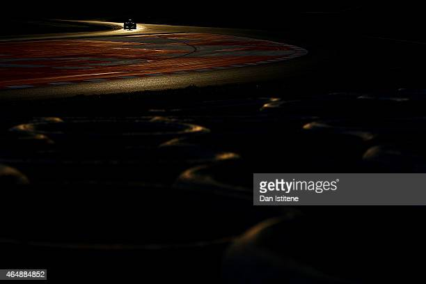 Daniel Ricciardo of Australia and Infiniti Red Bull Racing drives during day four of the final Formula One Winter Testing at Circuit de Catalunya on...