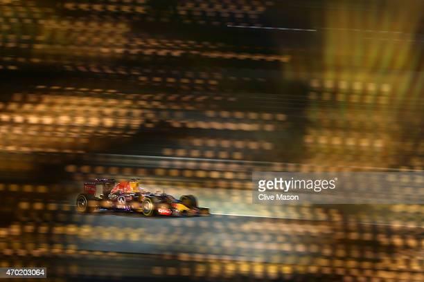 Daniel Ricciardo of Australia and Infiniti Red Bull Racing drives during qualifying for the Bahrain Formula One Grand Prix at Bahrain International...