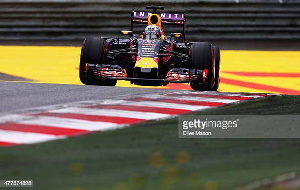 Daniel Ricciardo of Australia and Infiniti Red Bull Racing drives during final practice for the Formula One Grand Prix of Austria at Red Bull Ring on...