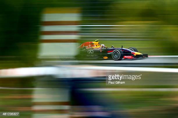 Daniel Ricciardo of Australia and Infiniti Red Bull Racing drives final practice session prior to qualifying for the Malaysia Formula One Grand Prix...