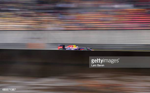 Daniel Ricciardo of Australia and Infiniti Red Bull Racing drives during qualifying ahead of the Chinese Formula One Grand Prix at the Shanghai...