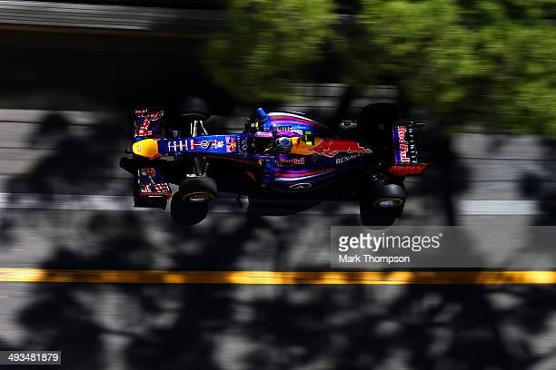 Daniel Ricciardo of Australia and Infiniti Red Bull Racing drives during final practice ahead of the Monaco Formula One Grand Prix at Circuit de...