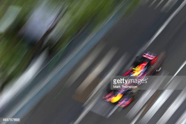 Daniel Ricciardo of Australia and Infiniti Red Bull Racing drives during the Monaco Formula One Grand Prix at Circuit de Monaco on May 25, 2014 in...