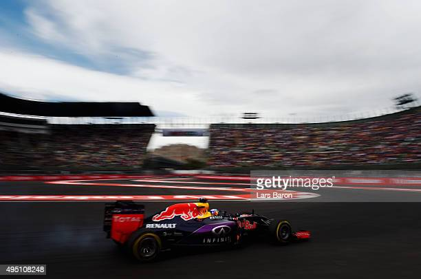 Daniel Ricciardo of Australia and Infiniti Red Bull Racing drives during final practice for the Formula One Grand Prix of Mexico at Autodromo...