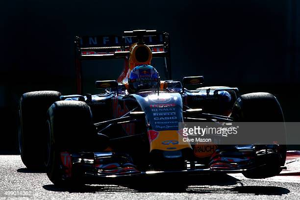 Daniel Ricciardo of Australia and Infiniti Red Bull Racing drives rduring final practice for the Abu Dhabi Formula One Grand Prix at Yas Marina...