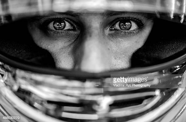 Daniel Ricciardo of Australia and Infiniti Red Bull Racing is pictured wearing his helmet during previews for the Singapore Formula One Grand Prix at...
