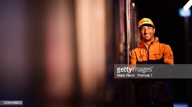 Daniel Ricciardo of Australia and McLaren F1 poses for a photo during previews ahead of the F1 Grand Prix of Austria at Red Bull Ring on July 01,...