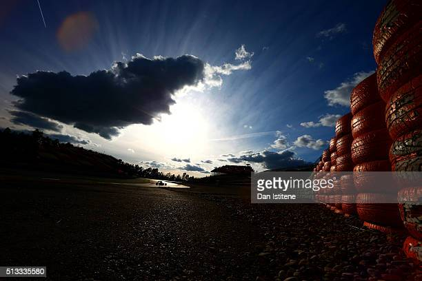 Daniel Ricciardo of Australia and Red Bull Racing drives during day two of F1 winter testing at Circuit de Catalunya on March 2 2016 in Montmelo Spain