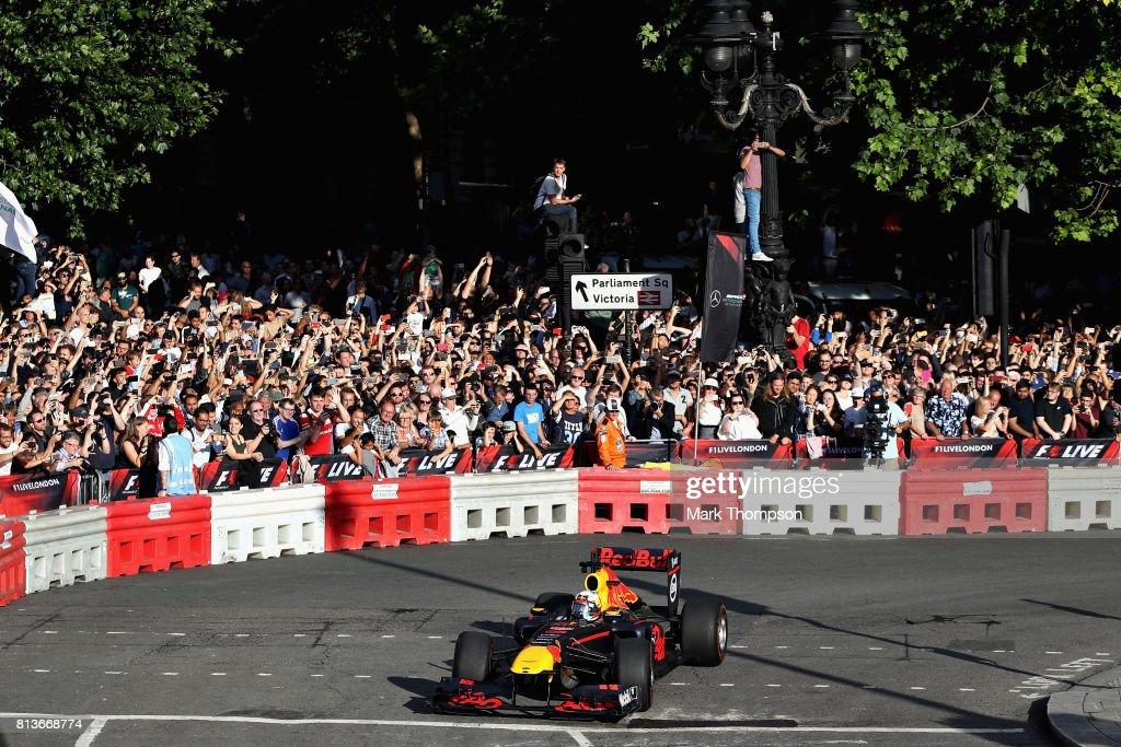 F1 Live In London Takes Over Trafalgar Square - Car Parade : News Photo