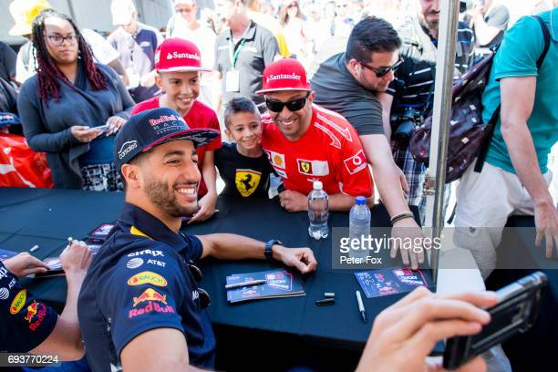 Daniel Ricciardo of Australia and Red Bull Racing during previews for the Canadian Formula One Grand Prix at Circuit Gilles Villeneuve on June 8 2017...