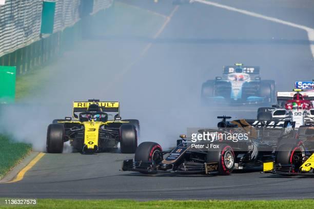 Daniel Ricciardo of Australia and Red Bull Racing during the F1 Grand Prix of Australia at Melbourne Grand Prix Circuit on March 17, 2019 in...