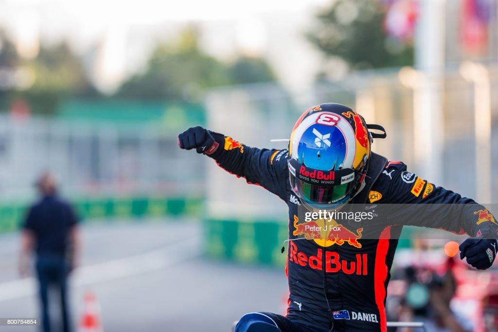 Daniel Ricciardo of Australia and Red Bull Racing during the Azerbaijan Formula One Grand Prix at Baku City Circuit on June 25, 2017 in Baku, Azerbaijan.
