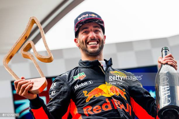 Daniel Ricciardo of Australia and Red Bull Racing during the Formula One Grand Prix of Austria at Red Bull Ring on July 9 2017 in Spielberg Austria