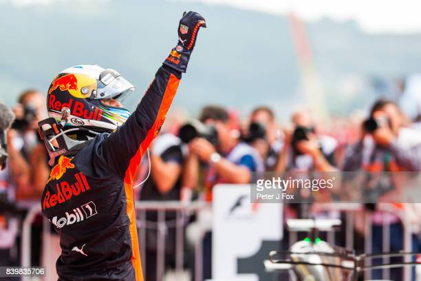 Daniel Ricciardo of Australia and Red Bull Racing during the Formula One Grand Prix of Belgium at Circuit de SpaFrancorchamps on August 27 2017 in...