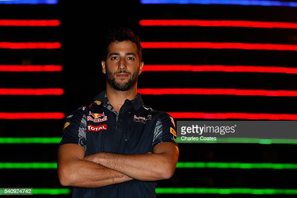 Daniel Ricciardo of Australia and Red Bull Racing in the Paddock after practice for the European Formula One Grand Prix at Baku City Circuit on June...