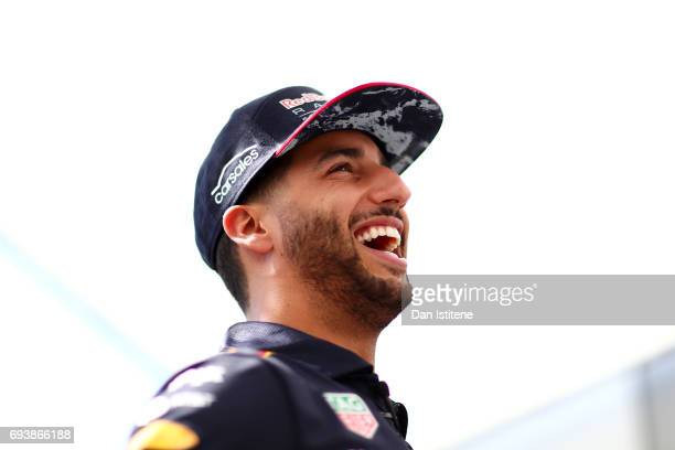 Daniel Ricciardo of Australia and Red Bull Racing in the Paddock during previews for the Canadian Formula One Grand Prix at Circuit Gilles Villeneuve...